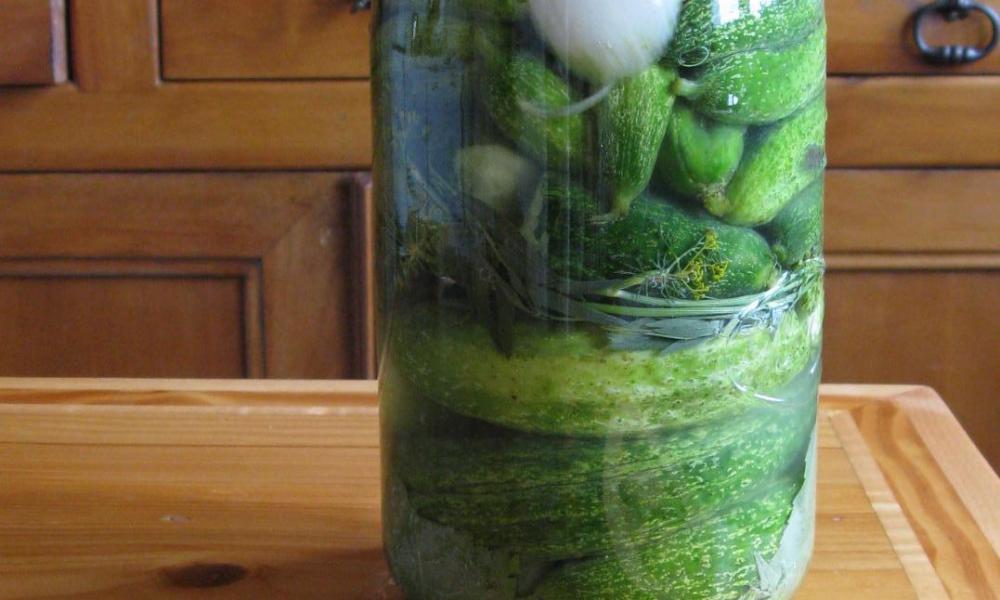 Bocal cornichons lacto-fermentés
